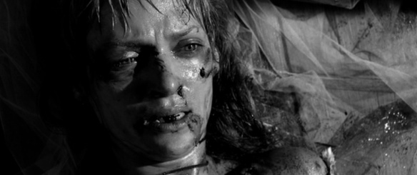 "Uma Thurman's ""Bride"" starts out bloodied, beaten and objectified at the beginning of KILL BILL, VOL. 1 (2003)."