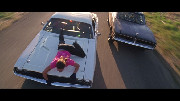 The women of DEATH PROOF (2007) fighting for their lives against Stuntman Mike.